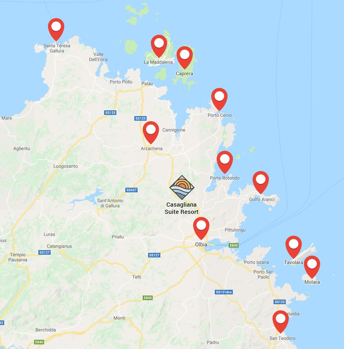 Cartina Sardegna Golfo Aranci.Casagliana Resort The Ideal Place To Find Again Your Comfort